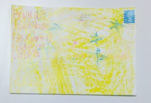 Bright yellow envelope to BrandArt