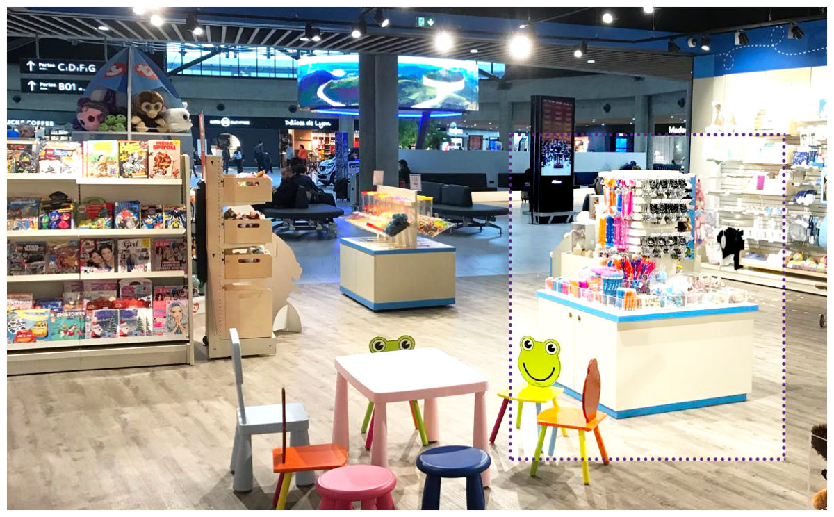BrandArt bespoke artwork, in retail toy shop at airport